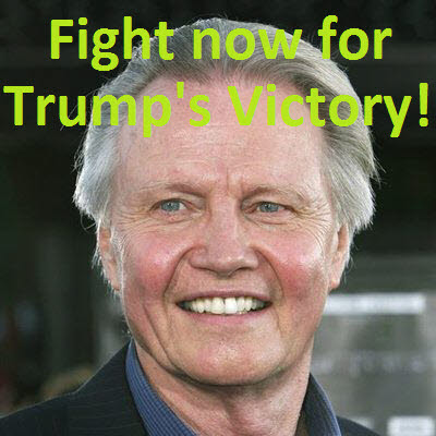 Jon Voight Academy Award winning Christian actor, Fight now for Trump's Victory!