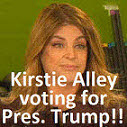 Kirstie Alley voting for Pres. Trump, Mother, actress, Lover of CAPS, lemurs and off color language